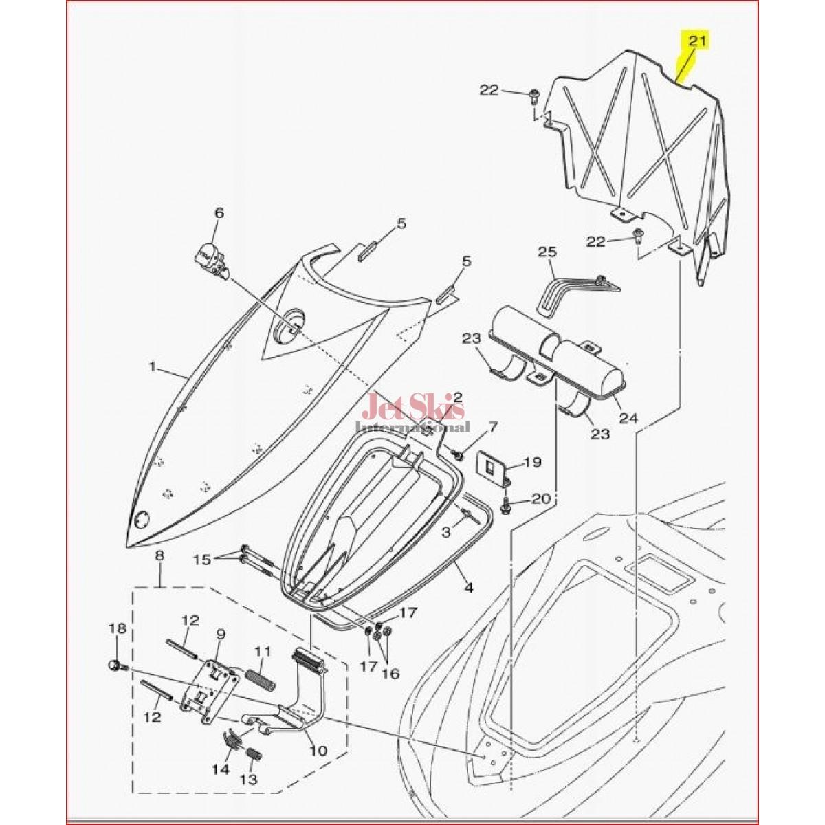 Yamaha F1k U475f 01 00 Plate Locker Bow