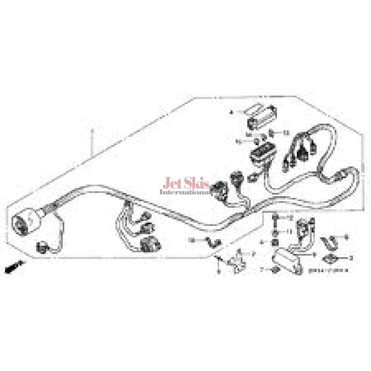 Honda Aquatrax Hw1 690 Main Wire Harness