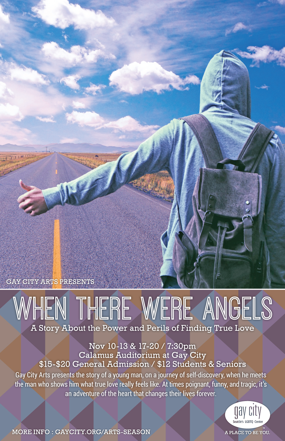 Poster for Gay City Arts: When There Were Angels