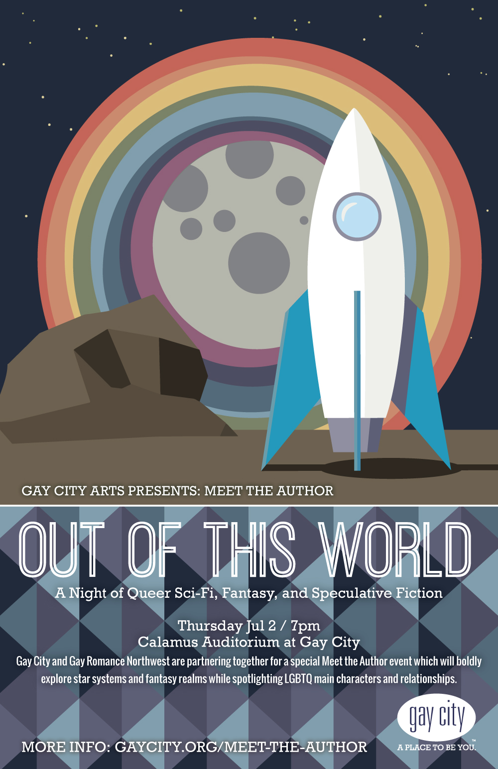 Poster for Gay City Arts: Out of this World