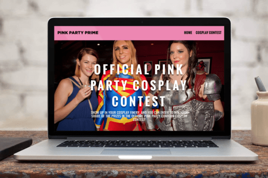 Pink Party Website