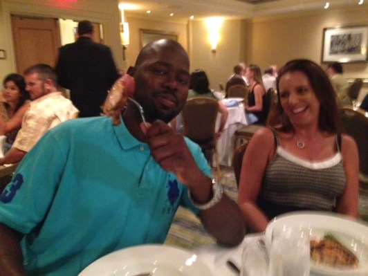 Eddie Smith and Michele Hall