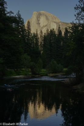 Half Dome from the Sentinel Bridge before sunset