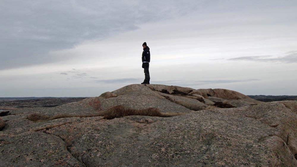 Birger på toppen av världen.. eller iallafall toppen av Sotenäs :)
