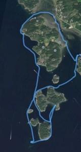 Inte så långt, kanske 5-6 km, men hööög kvalitet!