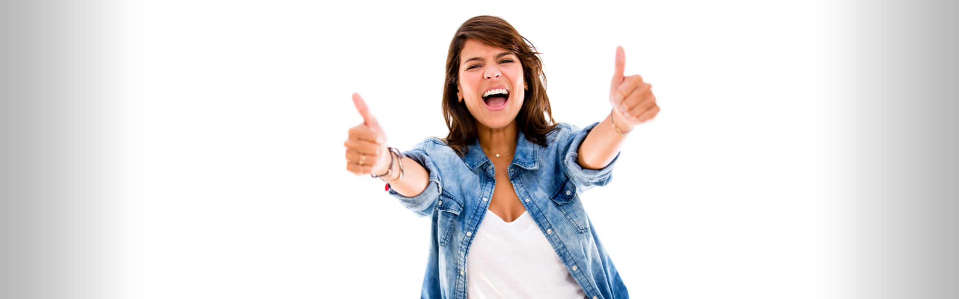 Female Giving Two Thumbs Up