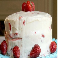Lemon Cake With Strawberry Filling And Cream Cheese Frosting