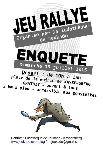 Diamche 19 juillet Jeu rallye-enquete