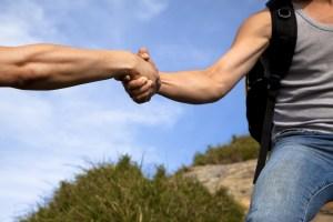 help of partner.helping hand