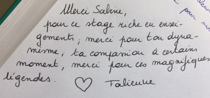 Commentaire de Fabienne