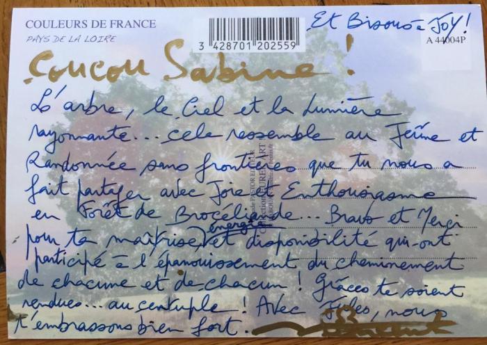 Carte postale verso