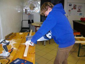 Fabrication de la caisse à savon à Truyes durant les vacances de février 2017