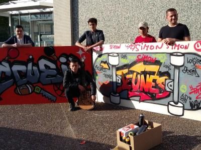 Un Graffeur à l'Accueil Jeunes d'Esvres!!