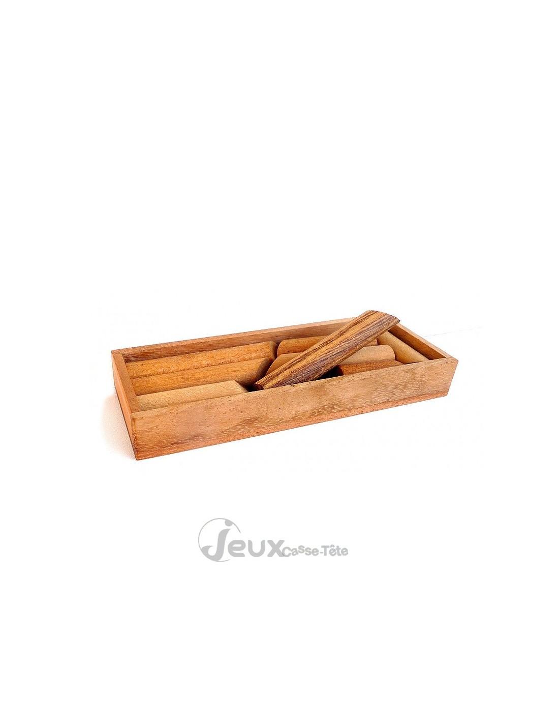 casse tete en bois boite a batons 8 pieces dans un coffret