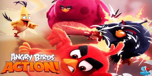 Angry Birds Action Astuce Triche Gemmes,Pièces,Énergie