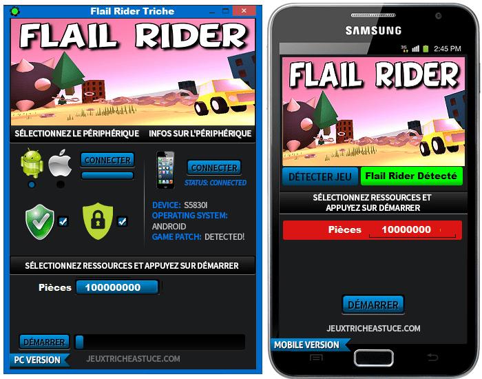 Flail Rider Triche