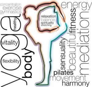 Yoga. Editable vector illustration