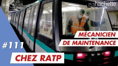 Pierrick m'apprend le job de mécanicien de maintenance à la RATP qui recrute