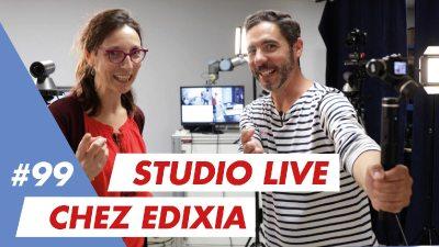 """Bienvenue dans notre """"Studio live"""" créé spécialement chez Edixia"""