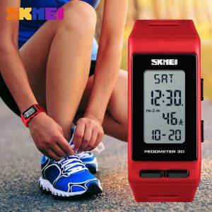 Popular Women Watches Pedometer Calories Led Digital Watch Outdoor Sport