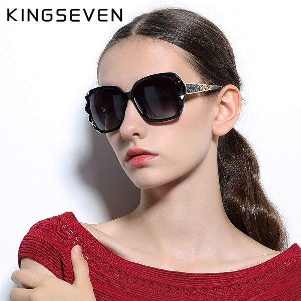 Women Gradient Polarized Diamond Frame Sun Glasses
