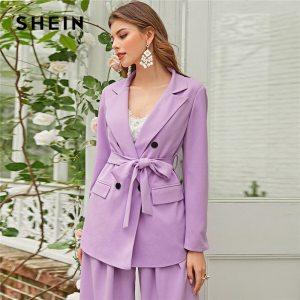 Long Sleeve Coat Office Lady Elegant Notched Blazers