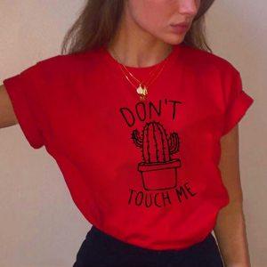 Cactus Printed Women's T-Shirt Cotton Round neck T-shirts