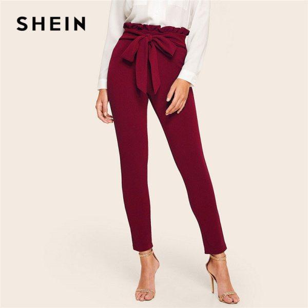 Women Clothing Fashion Elastic Waist Skinny Carrot Pants