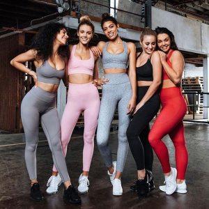 Woman Sportswear 2 Piece Exercise Leggings Padded Sports Bras