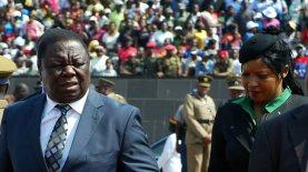 Morgan Tsvangirai na Elizabeth Macheka