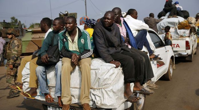 Muslim Flee to Cameroon from Bangui, Central Africa