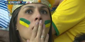 Brazilian Fan Puizzled after a third goal