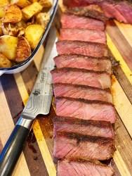Reverse seared New York Strip steak