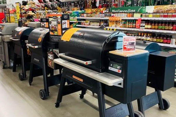 A local Ace Hardware's in-store Traeger lineup!