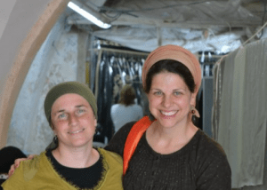 Wendy Kenin (left) and Chaya Kaplan Lester (right) visiting Rachel's Tomb, Summer 2011. Kever Rachel is the 3rd holiest site to the Jewish People.
