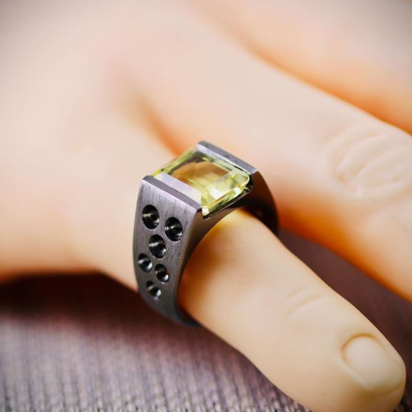 Natural Citrine Ring 1 natural gemstones pakistan + 925 silver jewelry online