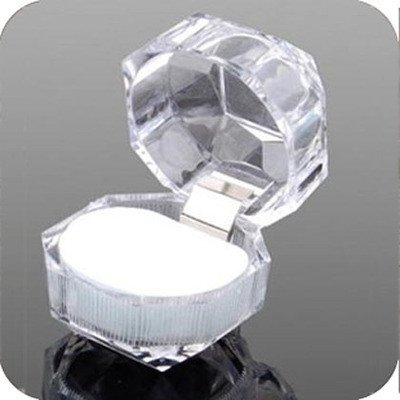 Acrylic Crystal Clear Ring Box Jewelry Box Case Gift