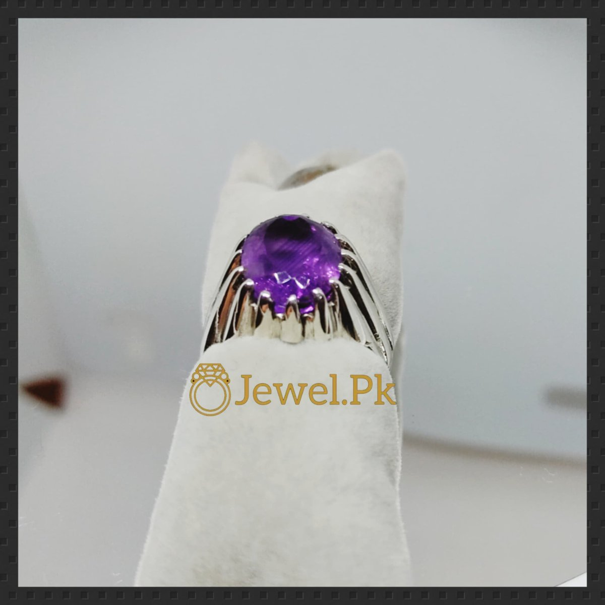 Natural Amethyst Ring in 925 Silver buy online in pakistan