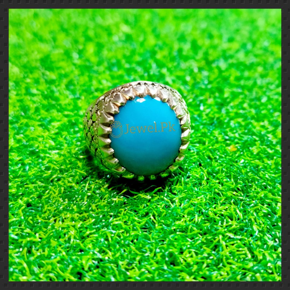 Natural Turquoise Feroza Ring in Silver 925 1 natural gemstones pakistan + 925 silver jewelry online