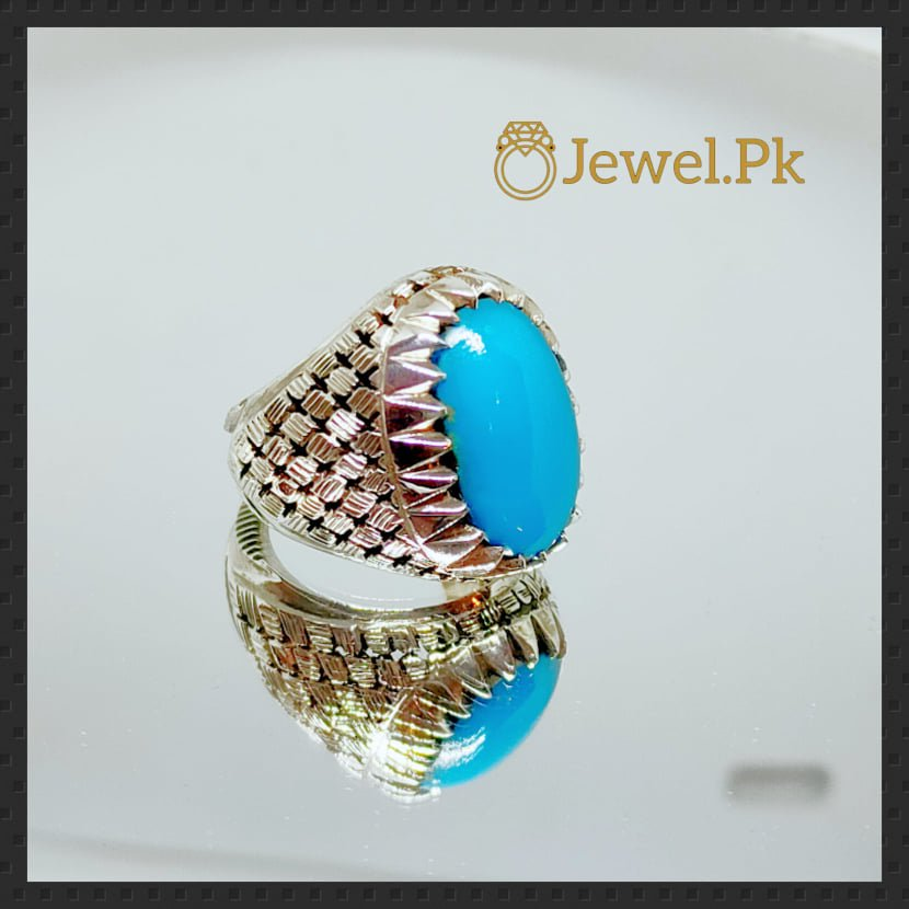 Natural Turquoise Ring 925 Silver