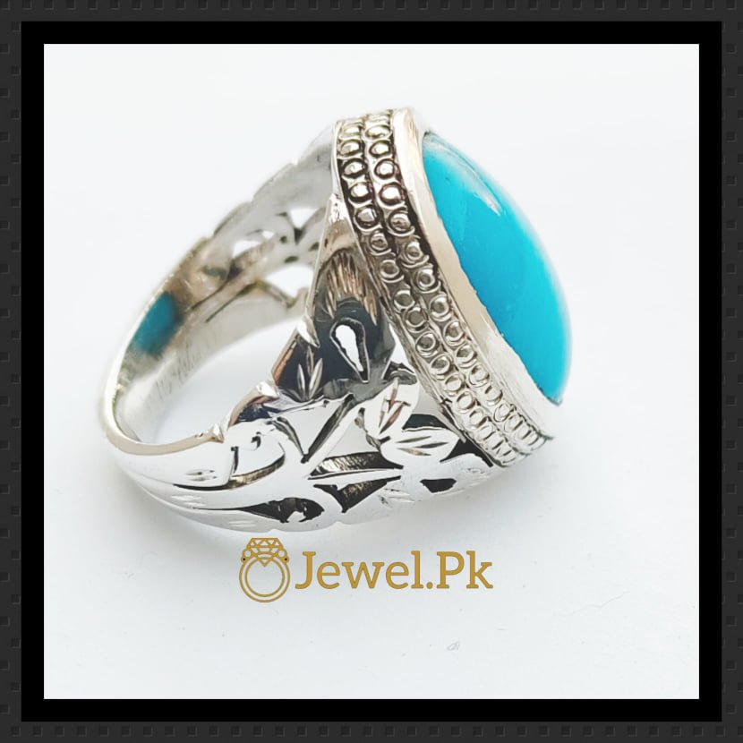 Natural Turquoise Rings 925 Silver Faislabadi Design and Beautiful layout 2