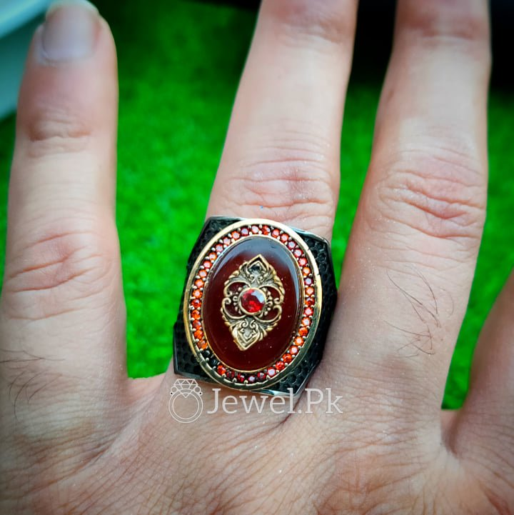 Ultra Luxury Turkish 925 Silver Rings 4 natural gemstones pakistan + 925 silver jewelry online