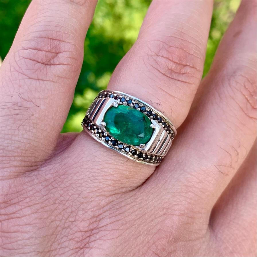 Natural Zambian Emerald Ring 1 1
