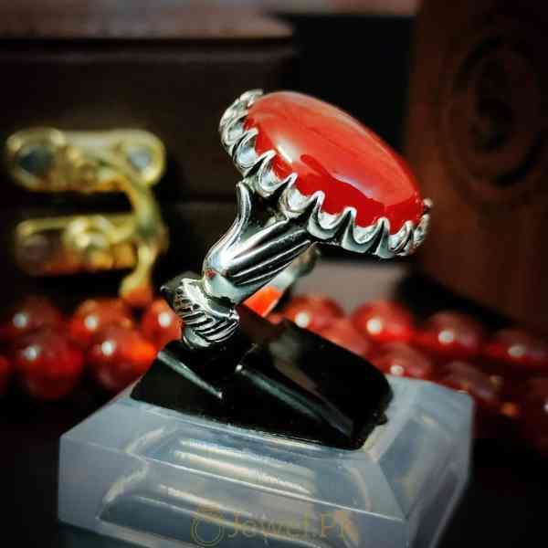 Handmade 925 Silver Aqeeq Ring