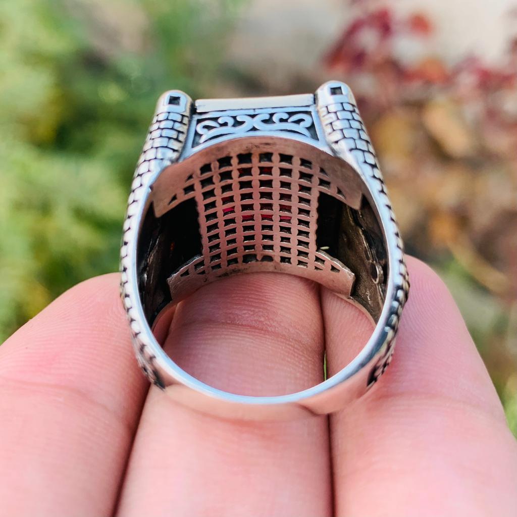 Luxury Turkish Ring 925 Silver Chandi Online Pakistan 7 natural gemstones pakistan + 925 silver jewelry online