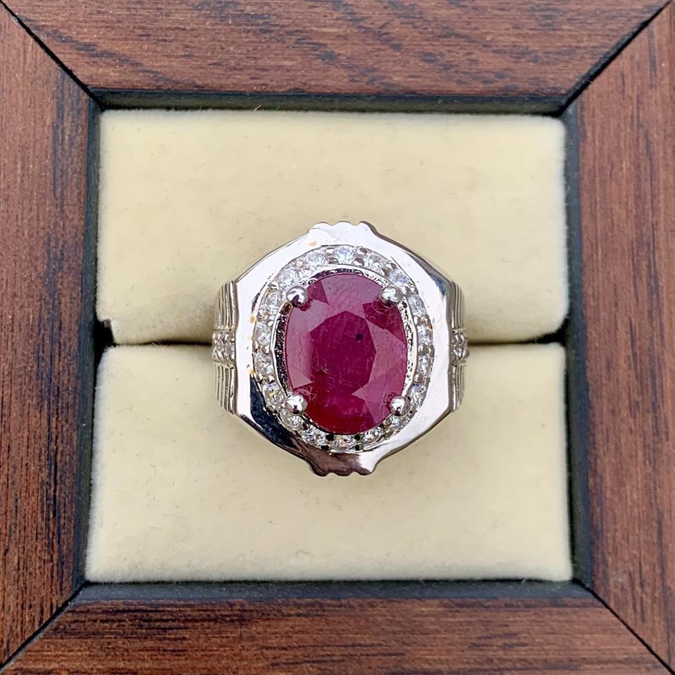 Natural Ruby Ring 407 2 natural gemstones pakistan + 925 silver jewelry online