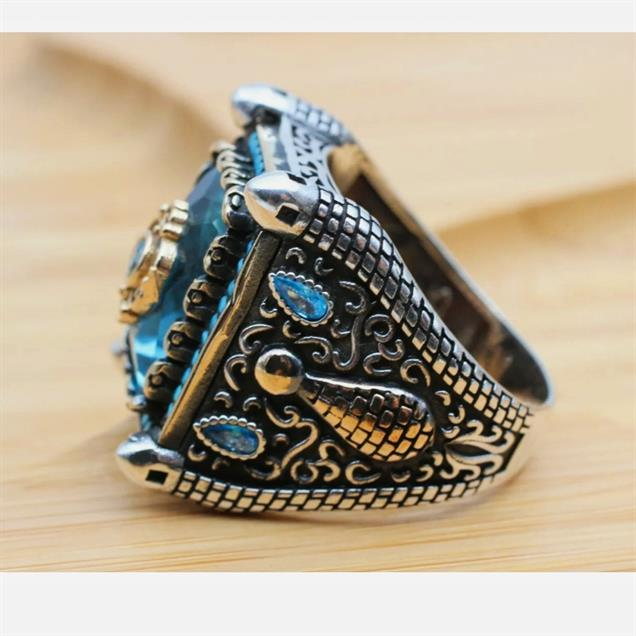 Turkish Ring 925 Sterling Silver Amazing Stunning Onyx Rings 8 natural gemstones pakistan + 925 silver jewelry online