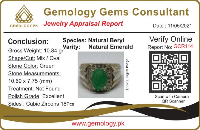 GCR114 1 natural gemstones pakistan + 925 silver jewelry online
