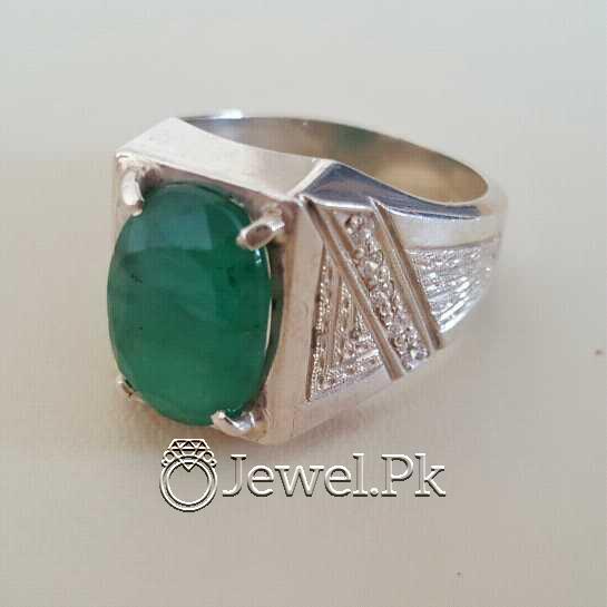 Natural Emerald Zamurd Stone with Pure Silver 925 Chandi 22 natural gemstones pakistan + 925 silver jewelry online