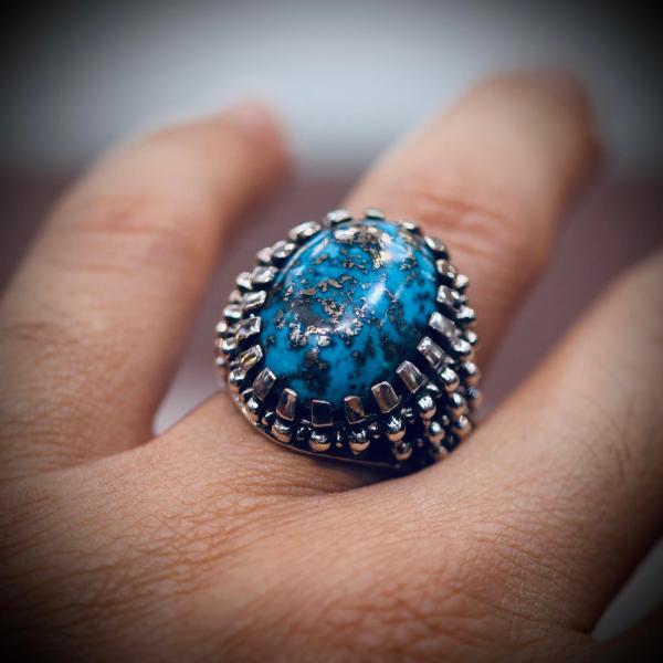Shajri Feroza - Pyrite Turquoise Ring